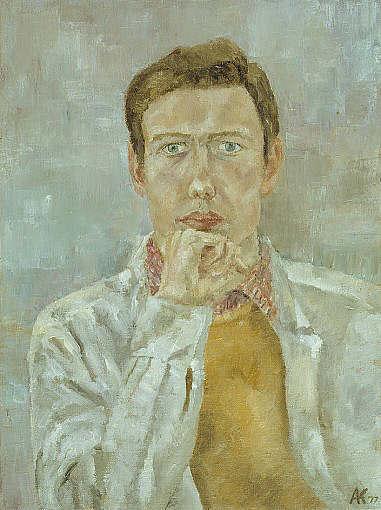 Arthur A. Keller Selbstbildnis 1977, Öl auf Leinwand
