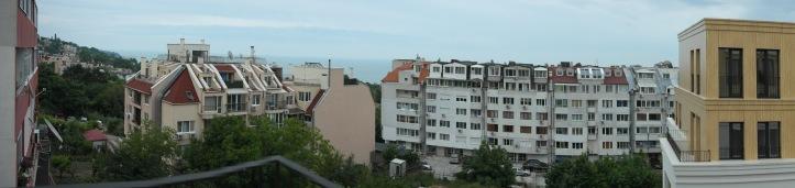 Varna - Evergreenkomplex, rechts oben meine Traumwohnung, das Schlafzimmer mit Meerblick