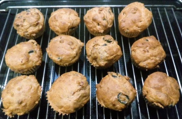 Joghurt-Schinken-Olivenmuffins, sehr lecker