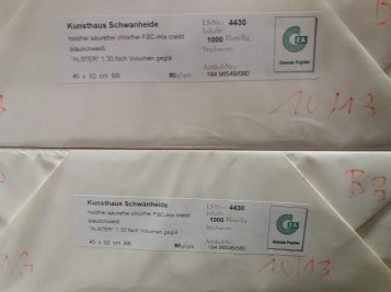 Alster Werkdruckpapier 80 - 90 - 120 g SRA3 320x450 mm